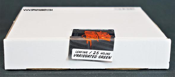 Variegated Green Leafing Sheets 25 pack LFL-VG Custom Creative
