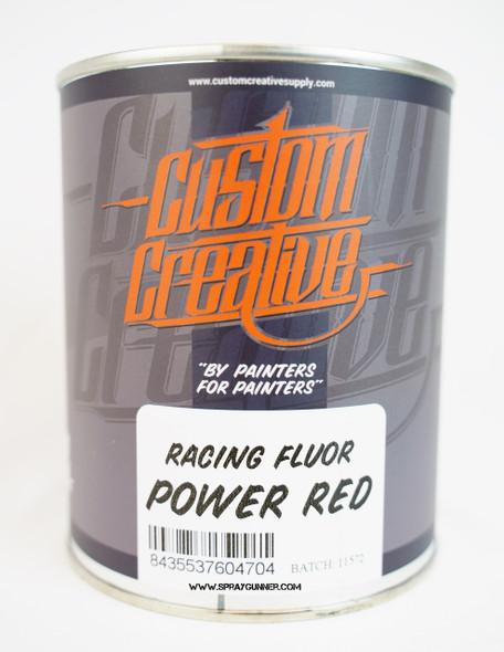 Custom Creative Paints Flourescent Power Red 1 liter 33.8oz FLS-PR-1L Custom Creative