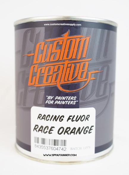 Custom Creative Paints Flourescent Race Orange 1 liter 33.8oz FLS-RO-1L Custom Creative