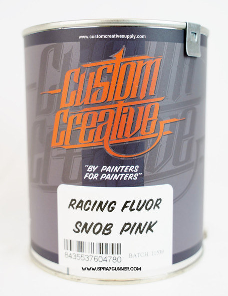 Custom Creative Paints Flourescent Snob Pink 1 liter 33.8oz FLS-SP-1L Custom Creative