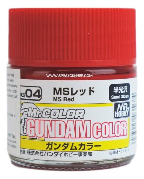 GSI Creos Gundam Color Model Paint MS Red UG04 UG04 GSI Creos Mr Hobby