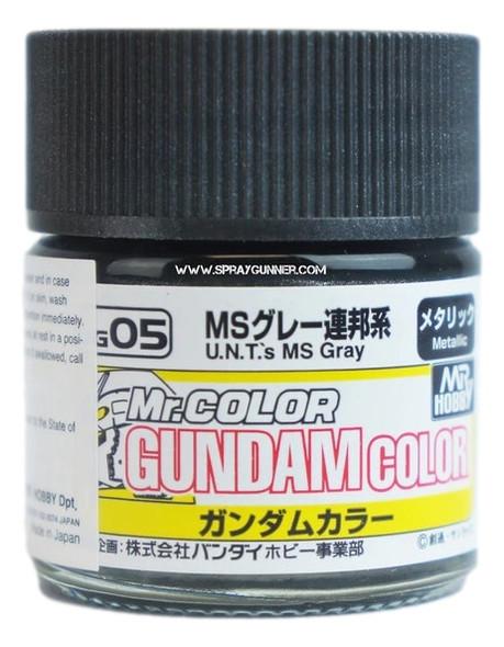 GSI Creos Gundam Color Model Paint UNTs MS Gray UG05 UG05 GSI Creos Mr Hobby