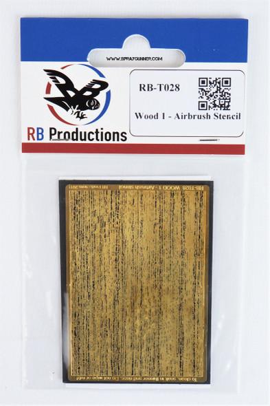 Wood 1 - Miniature  Airbrush Stencil