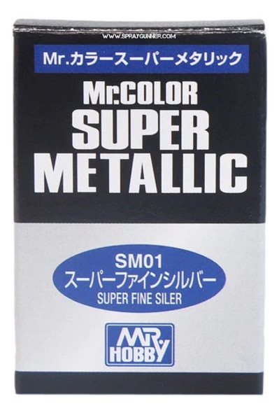 GSI Creos MrColor Super Metallic Model Paint Super Fine Silver SM01 GSI Creos Mr Hobby