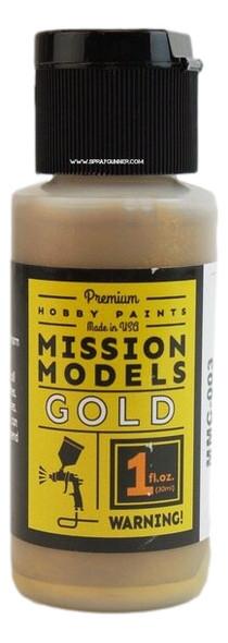 Mission Models Paints Color MMC-003 Gold MMC-003 Mission Models Paints