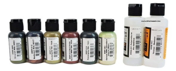 Mission Models Paints German AFV WWII Early - Mid War Paint Set MMP-GermanWWIISet#2 Mission Models Paints