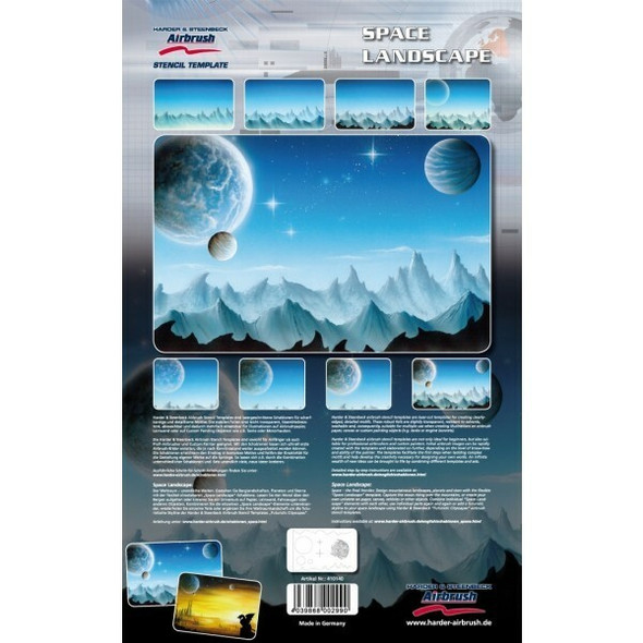 Harder and Steenbeck Airbrushing stencil Space Landscape 410140 Harder and Steenbeck