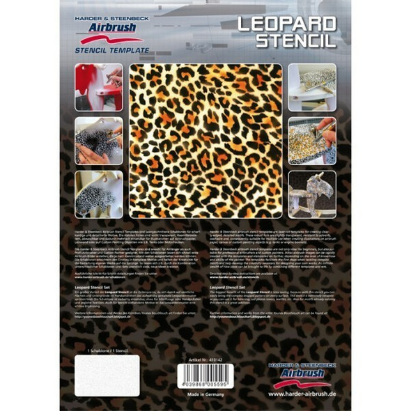 Harder and Steenbeck Airbrushing stencil Leopard 410142 Harder and Steenbeck