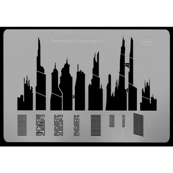 Harder and Steenbeck Airbrushing stencil Futuristic cityscape 410141 Harder and Steenbeck