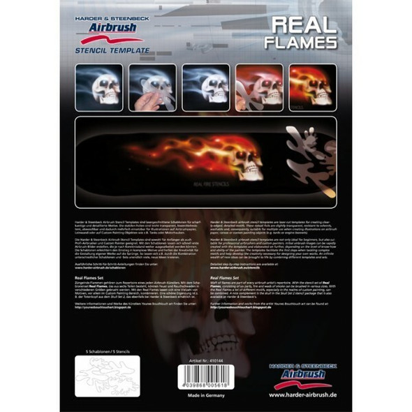 Harder and Steenbeck Airbrushing stencil Real Flames 410144 Harder and Steenbeck
