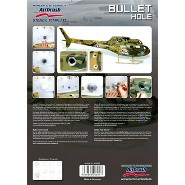 Harder and Steenbeck Airbrushing stencil Bullet Hole 410145 Harder and Steenbeck