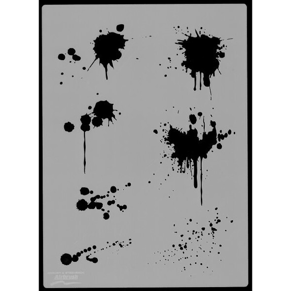 Harder and Steenbeck Airbrushing stencil Blood Splash 410146 Harder and Steenbeck