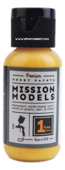 Mission Models Paints Color MMP-126 Farm Tractor Yellow MMP-126 Mission Models Paints