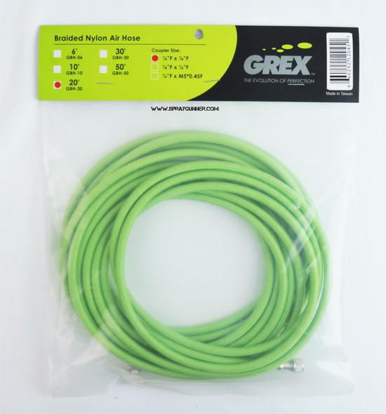 Grex 20 Braided Nylon Air Hose 1/8 Female GBH-20 GBH-20 Grex Airbrush