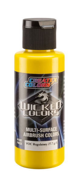 Wicked Opaque Hansa Yellow W080 W080 Createx