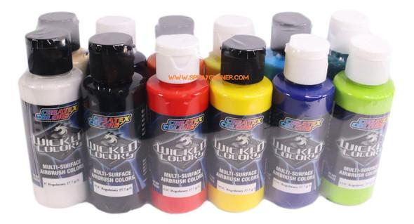 Createx Wicked Opaque 2oz 12-color set W130 W130 Createx