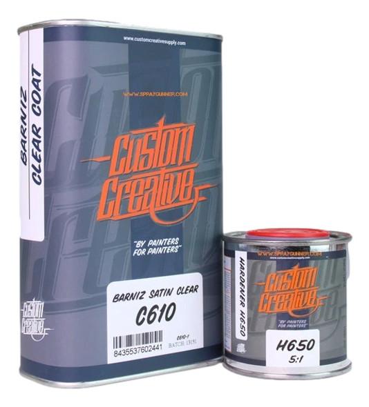 Custom Creative Satin Clear C610 with H650 Hardener CC/C610 Custom Creative