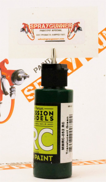 Mission Models Water-Based RC Paint: RC Translucent Green (MMRC-052)