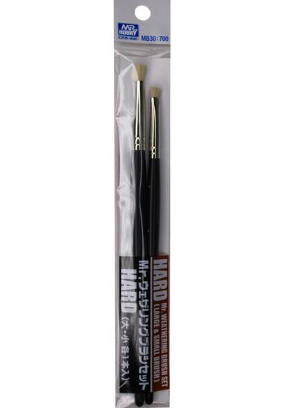 Mr Weathering Brush Set Hard MB30700 MB30