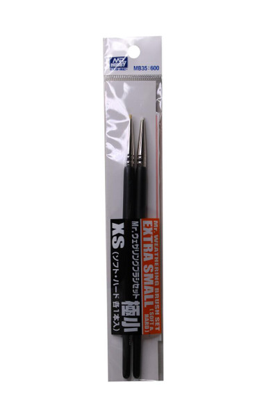 Mr Weathering Extra Small Brush Set MB35600 MB35