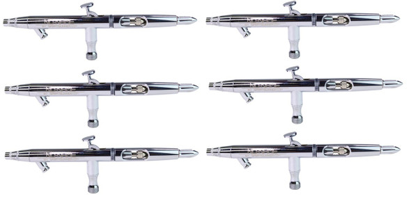 6 airbrush set 0.5mm Siphon Feed Air Brush Kit by NO-NAME Brand SG-810H-6PC NO-NAME brand
