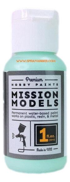 Mission Models Paints Color MMP-134 Surf Green CH 1957 MMP-134 Mission Models Paints