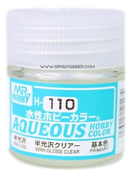Mr Hobby Aqueous H110 Semi-Gloss Clear H110 GSI Creos Mr Hobby