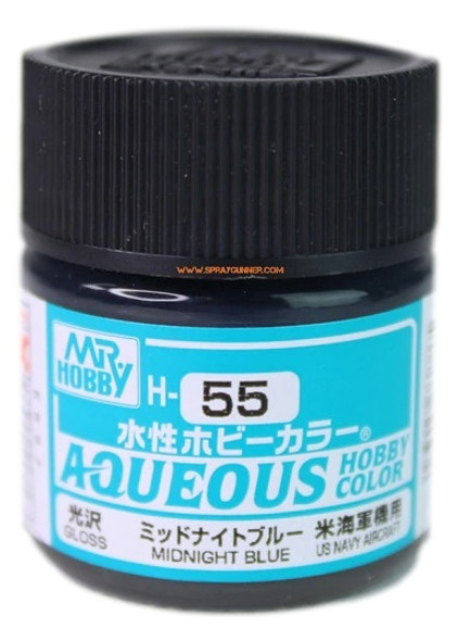 Mr Hobby Aqueous H55 Gloss Midnight Blue H55 GSI Creos Mr Hobby