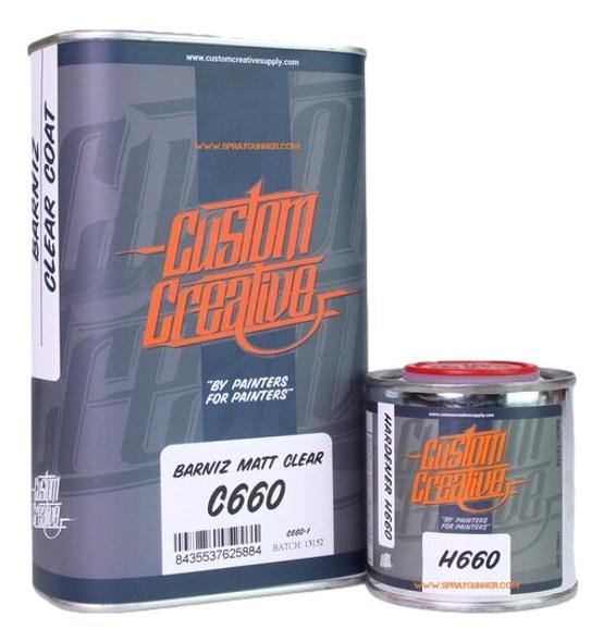 Custom Creative Matte Clear C660 with H660 Hardener CC/C660 Custom Creative