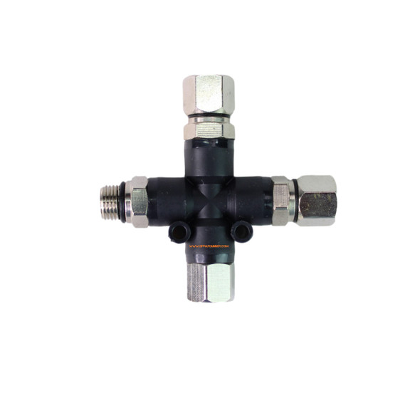 3 Way Splitter with 2 Blanking Caps 3 Male Ends/1 Female End By NO-NAME Brand NN-BD13 NO-NAME brand