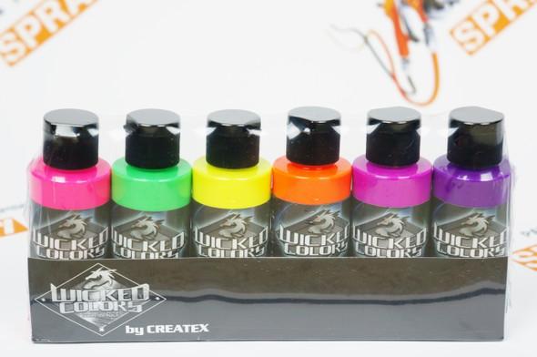 Wicked Fluorescent Set W103-00 W103-00 Createx