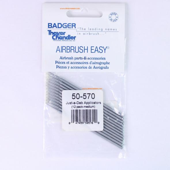 Badger Just-A-Dab Applicators 12 Pack-Medium 50-570 Badger