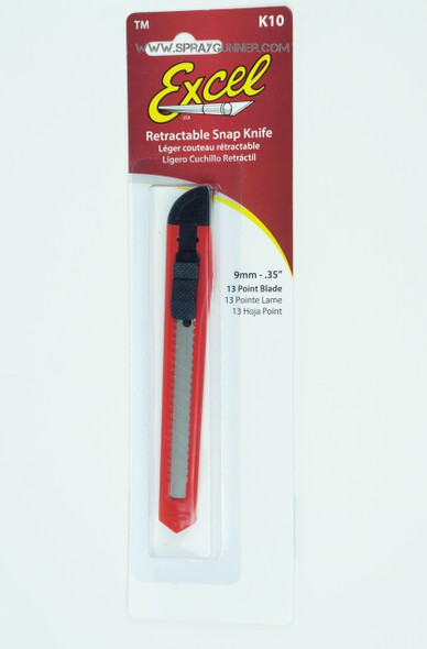 Excel K10 13-Point Lite Duty Flat Plastic Snap Blade Knife 16010 Excel Hobby Blades
