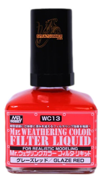 GSI Creos MrWeathering Color Model Paint Glaze Red WC13 GSI Creos Mr Hobby