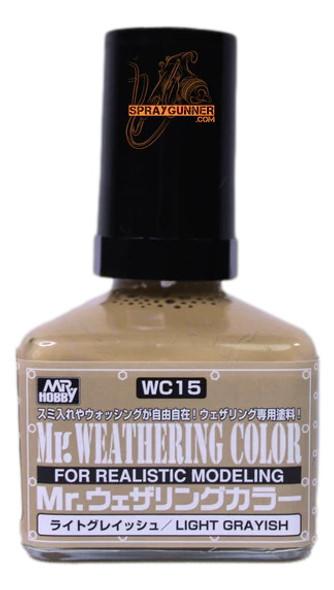 GSI Creos MrWeathering Color Model Paint Light Grayish WC15 GSI Creos Mr Hobby
