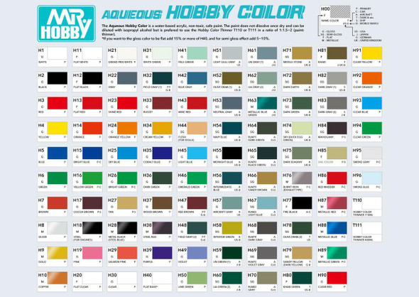 MrHobby Aqueous H104 Premium Flat Base H104 GSI Creos Mr Hobby
