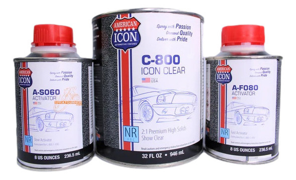 C-800 ICON Clear 1 Quart With 2 Activators - Complete Kit American ICON