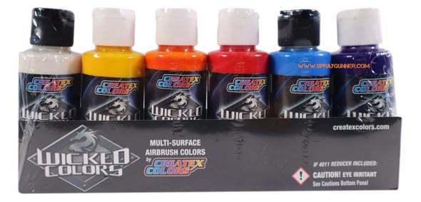 Createx Wicked Colors 2oz Essential Pearlized Set W132 W132 Createx