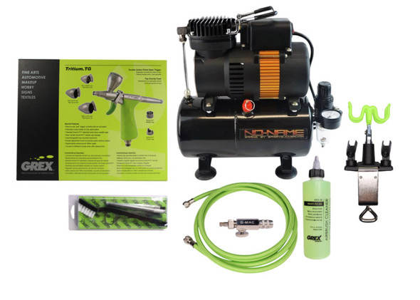 Grex Gravity Feed Tritium Airbrush Tooty Compressor Combo CS-GREX-Tooty-TG Grex Airbrush