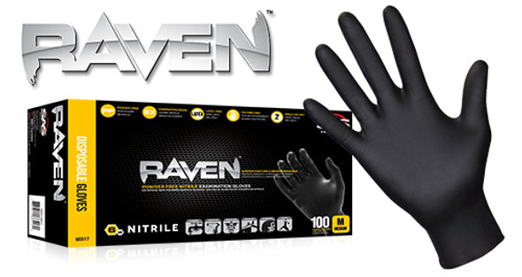 SAS Safety Corp Raven Nitrile Disposable Gloves RavenGloves