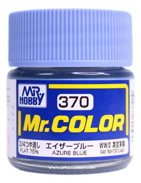 GSI Creos Mr Color Model Paint Flat Azure Blue C370 C370 GSI Creos Mr Hobby