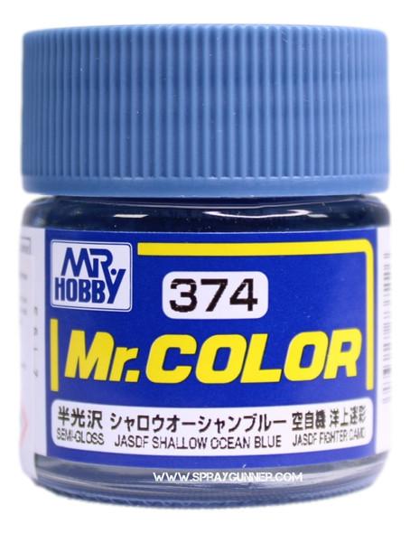 GSI Creos Mr Color Model Paint Semi-gloss Shallow Ocean Blue C374 C374 GSI Creos Mr Hobby