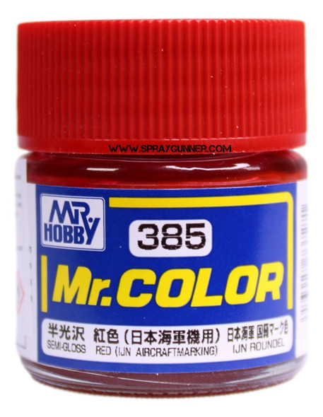 GSI Creos Mr Color Model Paint Semi-Gloss Red C385 C385 GSI Creos Mr Hobby