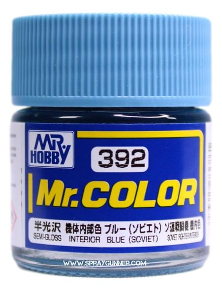 GSI Creos Mr Color Model Paint Semi-Gloss Interior Blue C392 C392 GSI Creos Mr Hobby