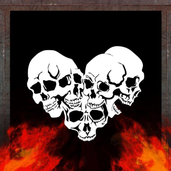 Air Shot Stencil Skull Background 5 SKBG5 Air Shot