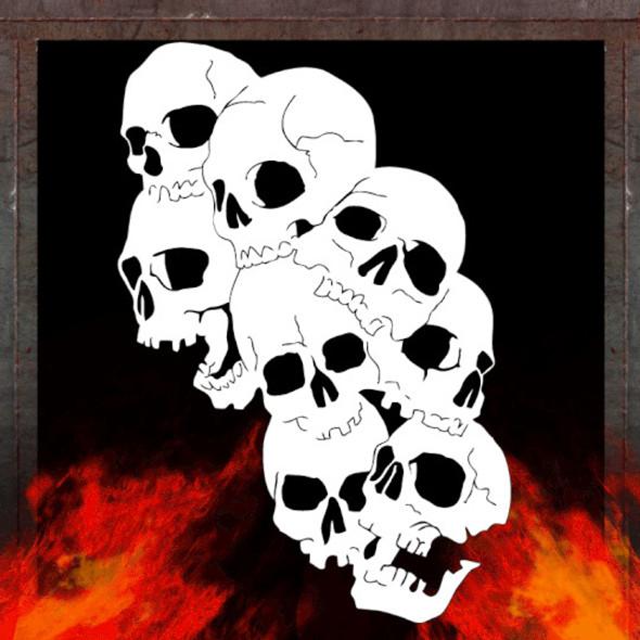 Air Shot Stencil Skull Background 7 SKBG7 Air Shot