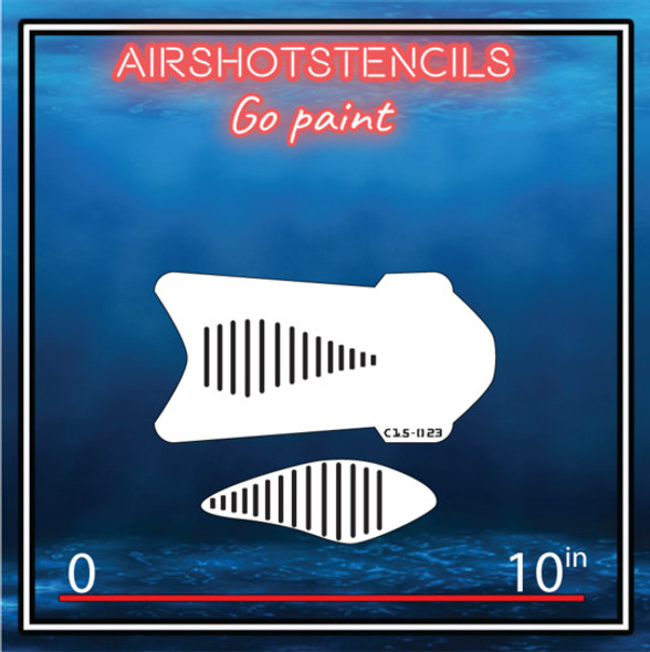 Air Shot Stencil Fishing Lure C15-023 LUREC15-023SMALL Air Shot