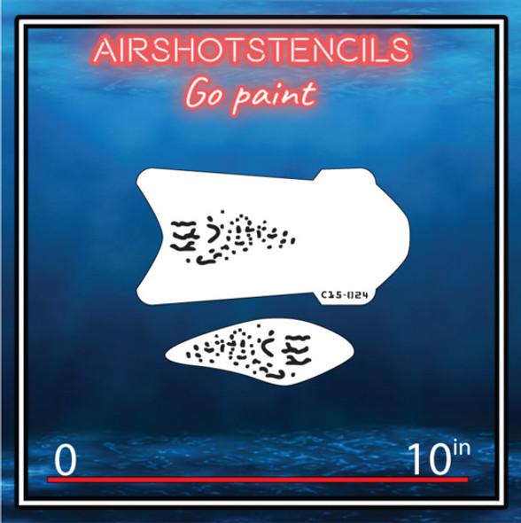 Air Shot Stencil Fishing Lure C15-024 LUREC15-024SMALL Air Shot