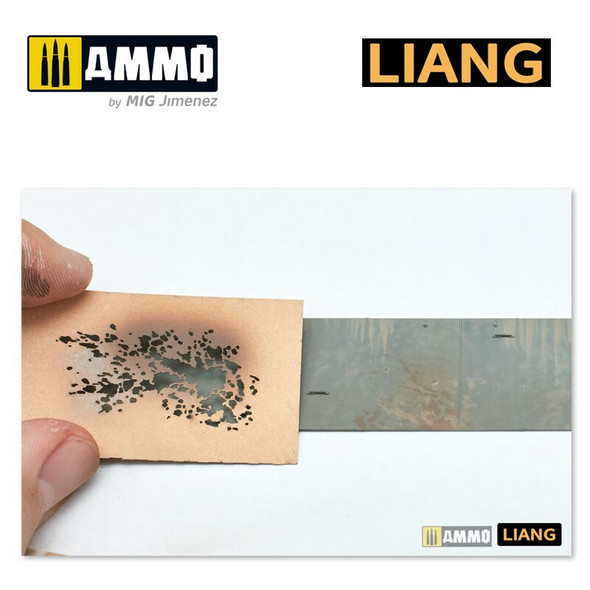 AMMO by MIG Splashes Mud Effects Airbrush Stencils LIANG-0003 AMMO by MIG