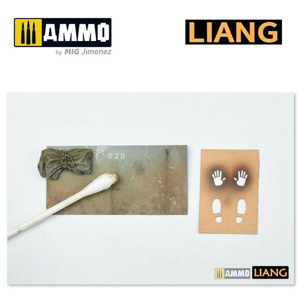 AMMO by MIG Handprint and Shoeprint Airbrush Stencils LIANG-0004 AMMO by MIG